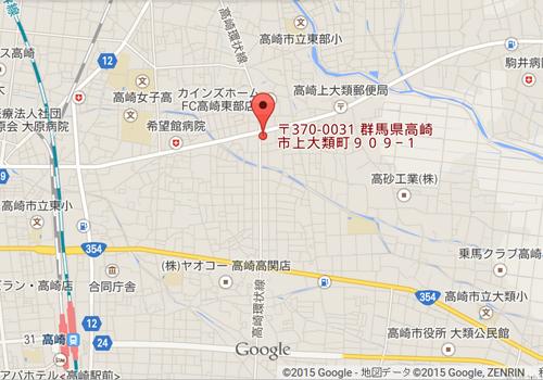 はんこ屋さん21 高崎東店 地図